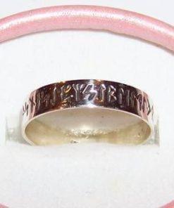 Inel unisex din argint cu cele 24 de simboluri runice