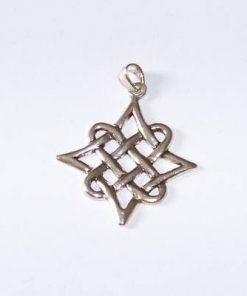 Pandantiv unisex din argint - Nodul Mistic stilizat