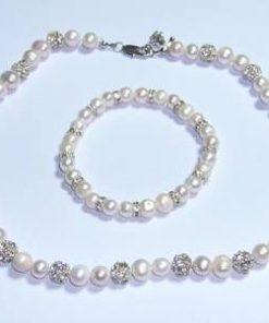 Set din argint cu perle de cultura