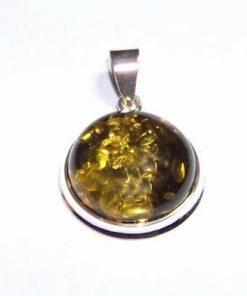 Pandantiv din argint cu cristal de chihlimbar