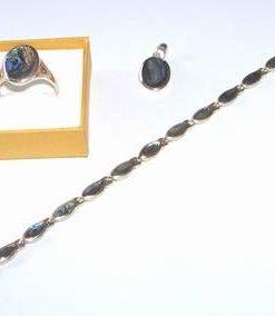 Set din argint cu scoica marina - model deosebit