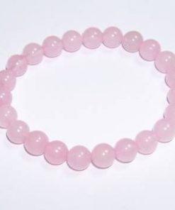 Bratara din cuart roz pe elastic