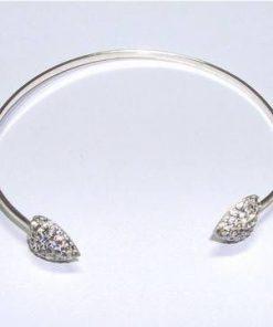 Bratara din argint cu cristale Swarovski