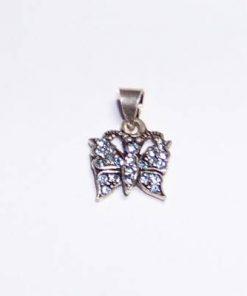 Fluturele eliberarii din argint cu cristale Swarovski