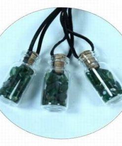 Pandantiv - Sticluta cu cristale de aventurin pe siret