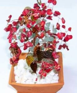 Copacel cu cristale de aventurin si coral