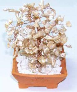 Copacel cu cristale de sidef crem