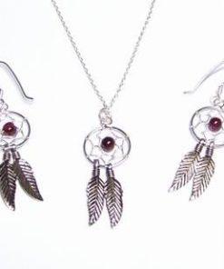 Set din argint - Prinzatoare de vise cu cristale de ametist