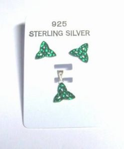 Set din argint cu cristale Swarovski - verde