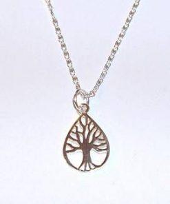 Pandantiv - Copacul Vietii, din argint, pe lant din argint