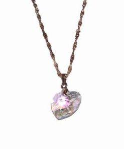 Inima din cristal Swarovski pe lant din argint