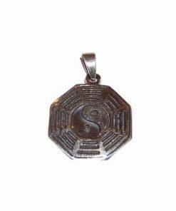 Pandantiv din argint cu Ba Gua, trigrame si Yin-Yang