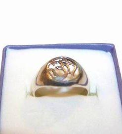 Inel din argint cu simbolul Tao/OM
