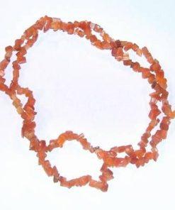 Colier din sidef - portocaliu - ruperea de trecut