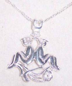 Zodia Gemeni din argint, pe lant de argint - model deosebit