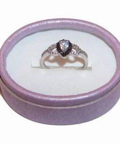 Inel de logodna din argint cu cristale Swarovski