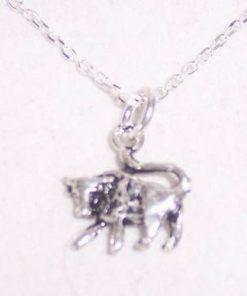 Zodia Taur din argint, pe lant de argint