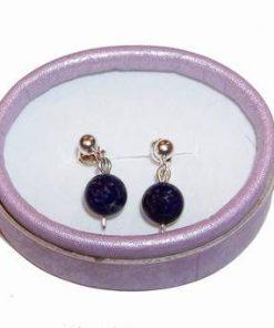 Cercei din argint cu sfere de lapis lazuli
