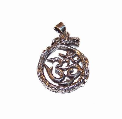 Pandantiv din argint - simbolul Tao si dragonul succesului