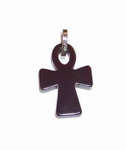 Crucea Egipteana / Ank din hematit cu argint