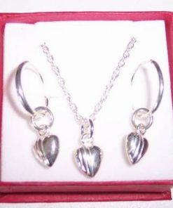Set din argint cu inimioare pentru copii - model unicat !