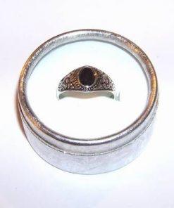 Inel din argint cu turmalina