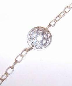 Bratara unisex din argint cu mandala succesului