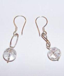Cercei din argint cu cristal de stanca - Floare de gheata