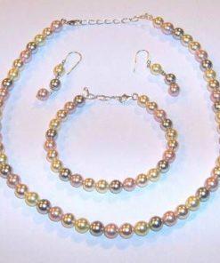Set din perle de cultura cu argint - Fericire