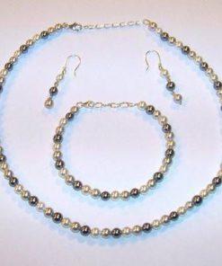 Set din perle de cultura cu argint - Protectie