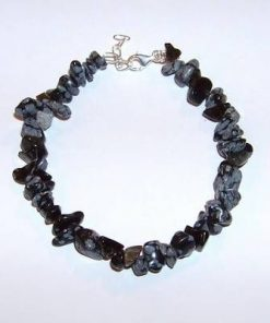Bratara din obsidian cu inchizatoare din argint