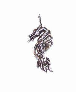 Dragonul Cerului din argint - pandantiv