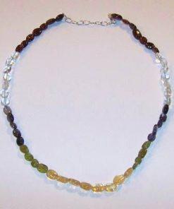 Colier din mix de cristale cu inchizatoare din argint