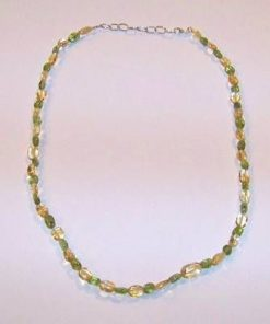 Colier din cristale de olivina si citrin