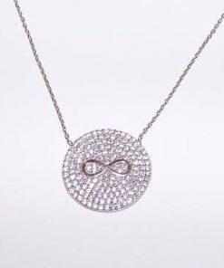 Pandantiv din argint cu cristale Swarovski - cifra 8