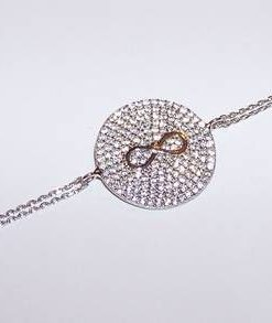 Bratara din argint cu cristale Swarovski - cifra 8