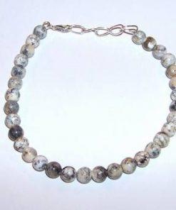 Bratara cu cristale din opal dendritic si argint 925