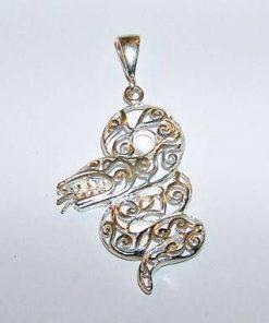Sarpele Fericirii - pandantiv din argint