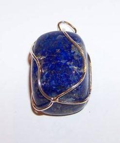 Pandantiv din lapis lazuli in montura din argint - unicat