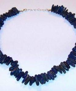 Colier din cristale de lapis lazuli cu argint