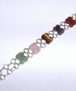 Bratara din argint cu cristalele celor cinci elemente