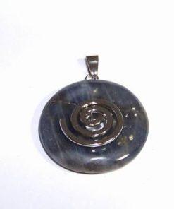 Pandantiv argintat cu simbol Reiki in cristal de safir