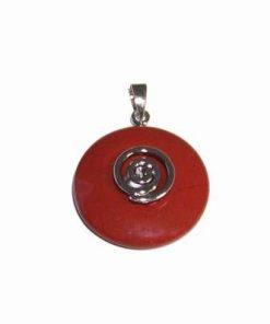 Pandantiv - simbol Reiki argintat cu cristal de carneol