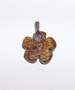 Pandantiv din bronzit - Floarea Vietii
