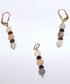 Set din aur de 14 K cu cristale de piatra lunii - unicat