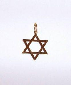Pecetea lui Solomon - Hexagrama din aur de 14K in 2 culori