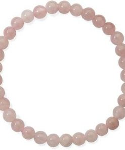 Bratara din sfere de cuart roz, pe elastic
