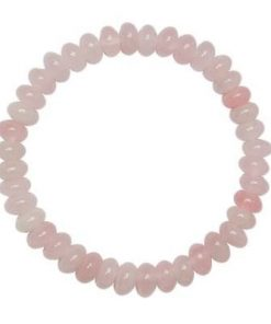 Bratara din cristale de cuart roz, pe elastic