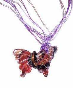 Colier cu fluture din sticla de Murano
