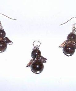 Set de ingerasi din bronzit si metal nobil